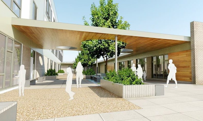 An artist's impression of Inverurie Community Campus.