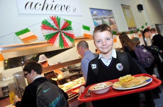 Speyside High School pupil Corey Rizza was one of the first to sample the Italian menu.