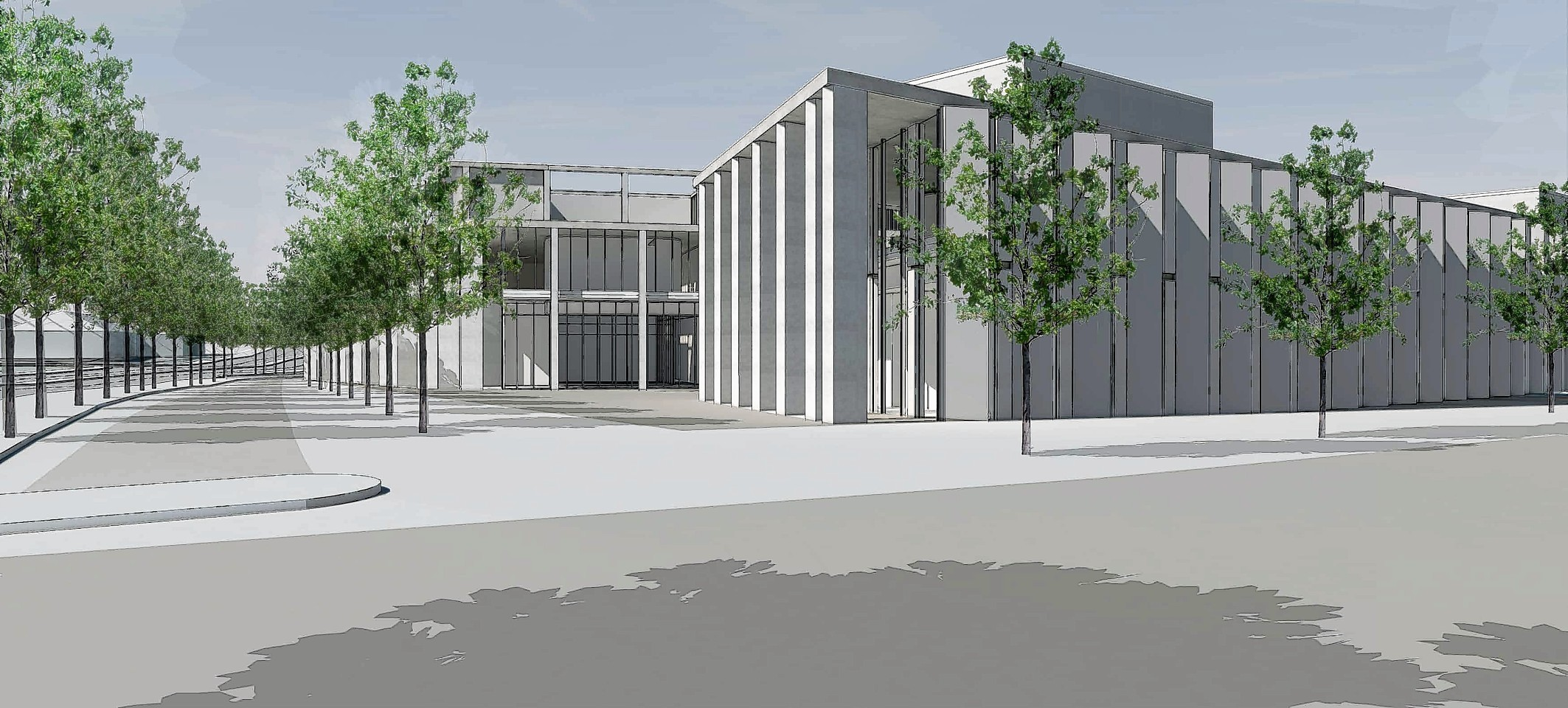 Artist's impression of the new justice centre.