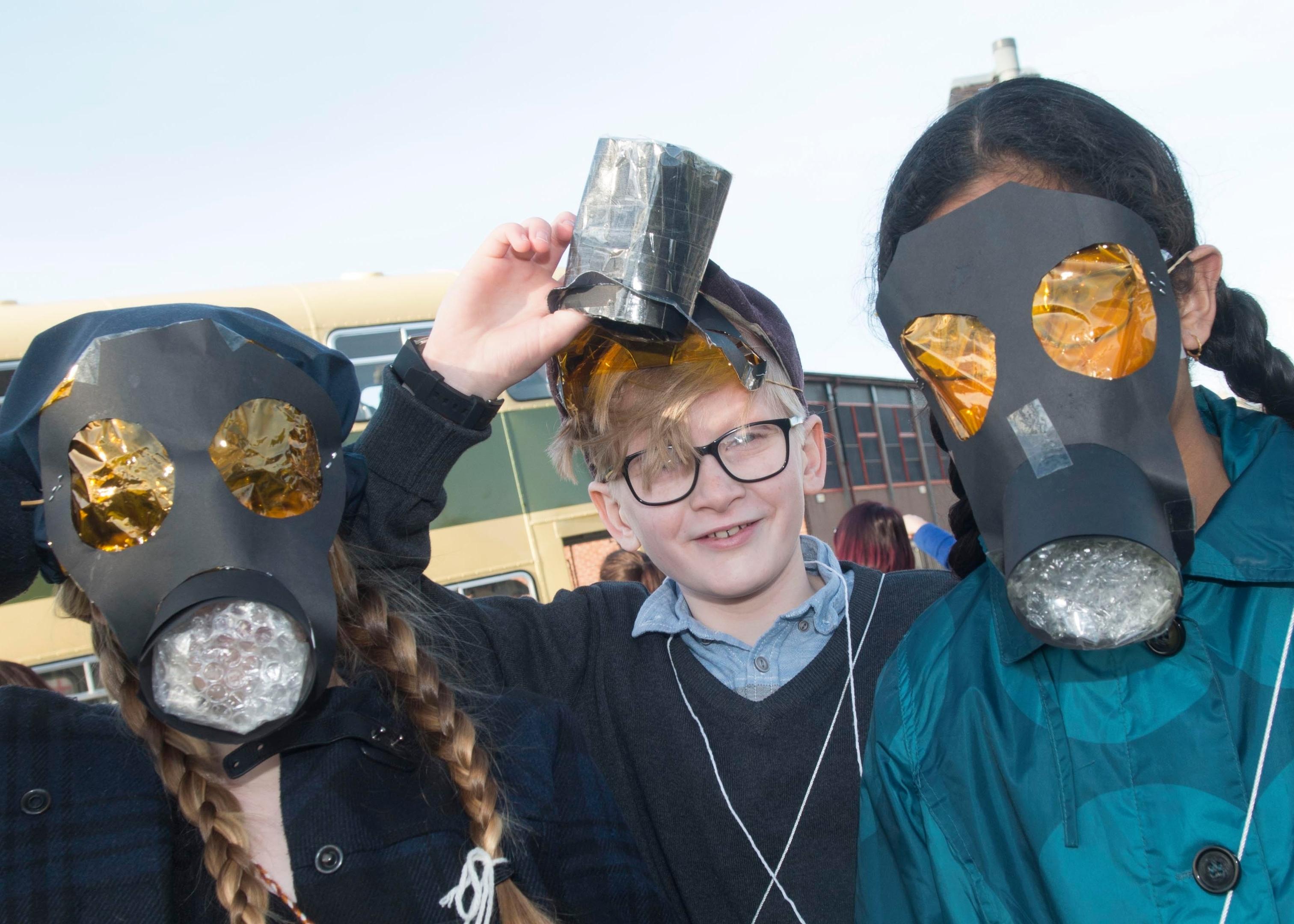 L-R- McKenzie Holse, Joel Riach, Mintu Saji, primary 7 pupils at Aberdeen's Kingsford School