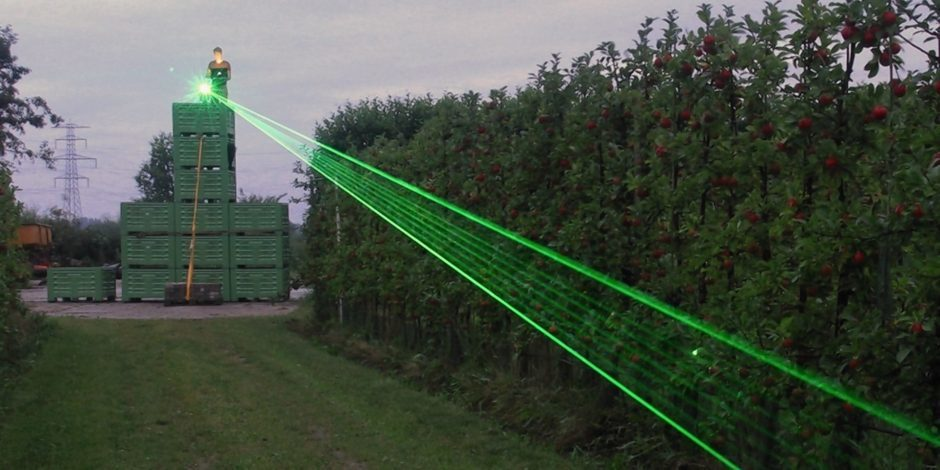 The laser in action.
