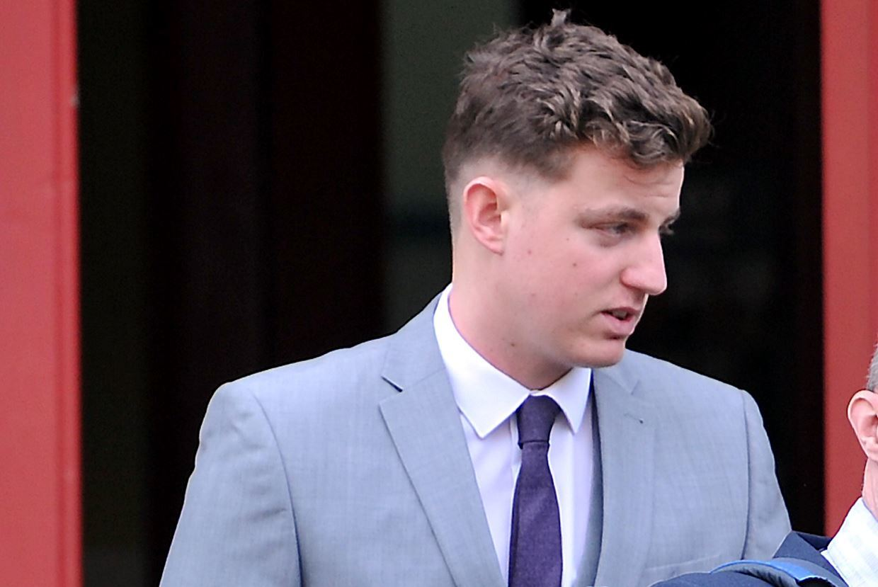 Louis Doherty was banned from driving for 15 months after pleading guilty at Elgin Sheriff Court.
