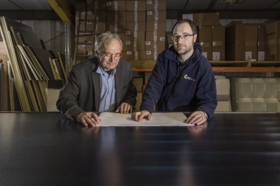 George Goudsmit, left, with Grant Feasey, of Forres-based AES Solar.