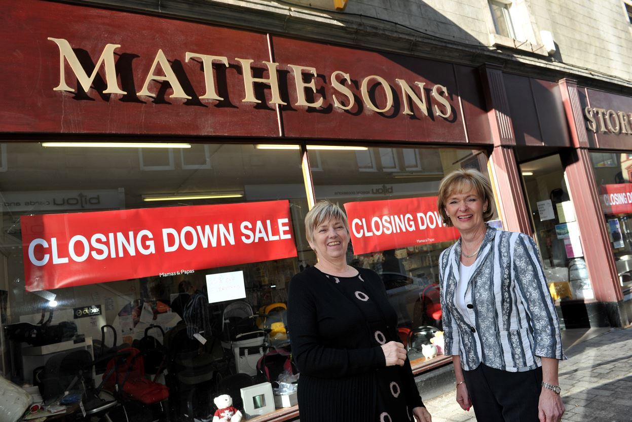 Mathesons manager Anne Shanks and owner Winnie Ross have been friends since they went to school together.