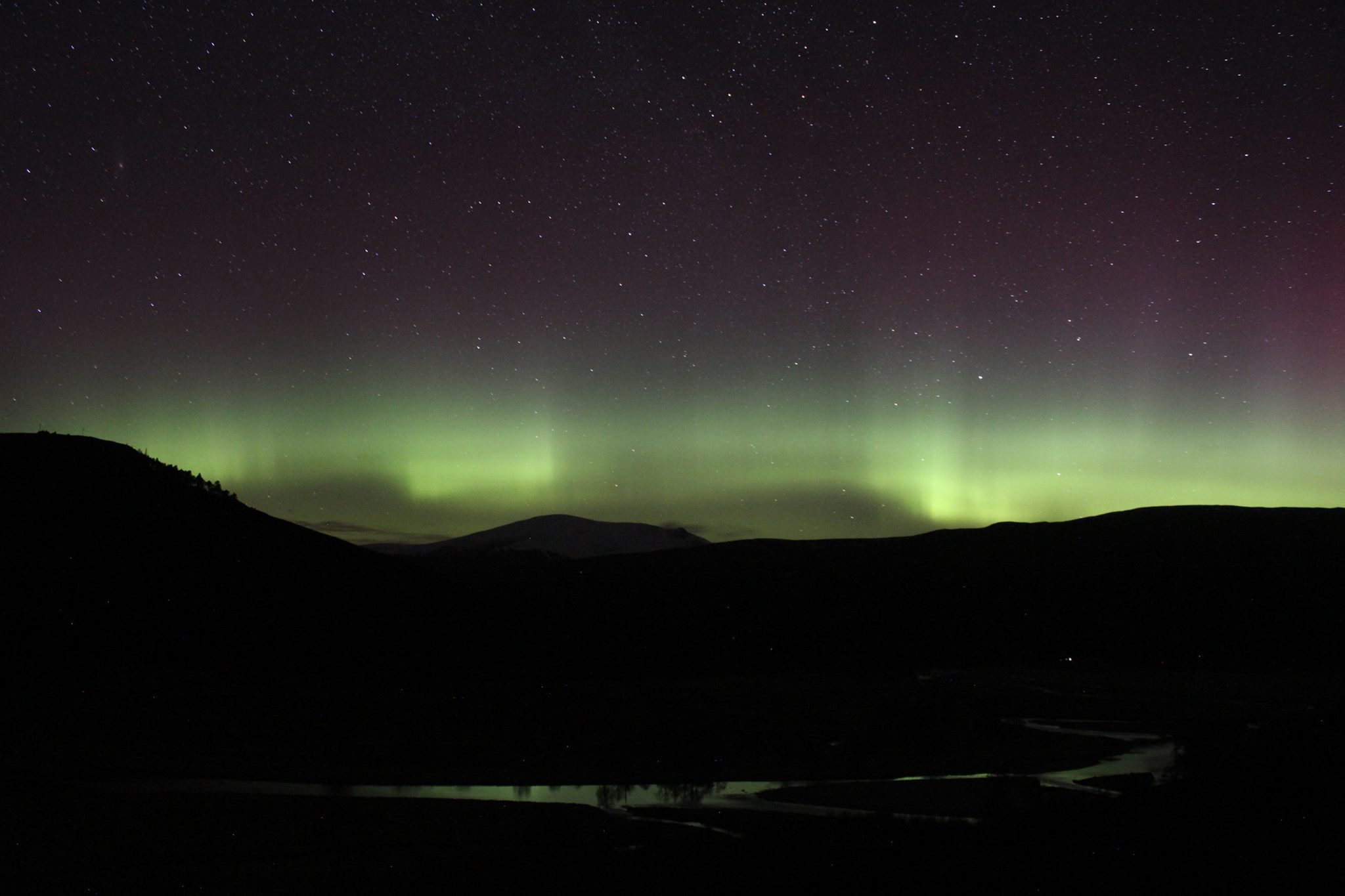 The Northern Lights from Mar Lodge Estate. Picture: Kirsten Dallas.