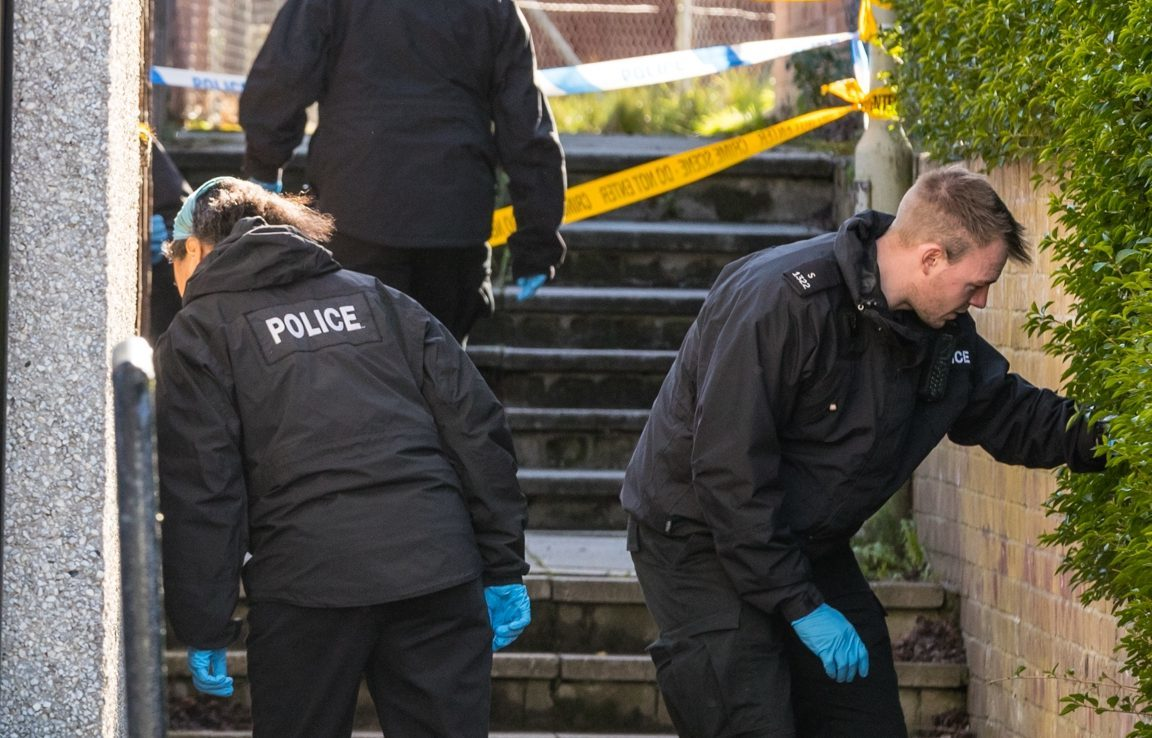 Police investigate the alleged incident on Oldtown Road