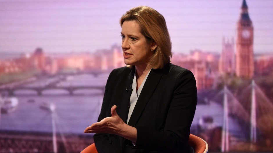 Home Secretary Amber Rudd appearing on the BBC One current affairs programme The Andrew Marr Show (BBC/PA)
