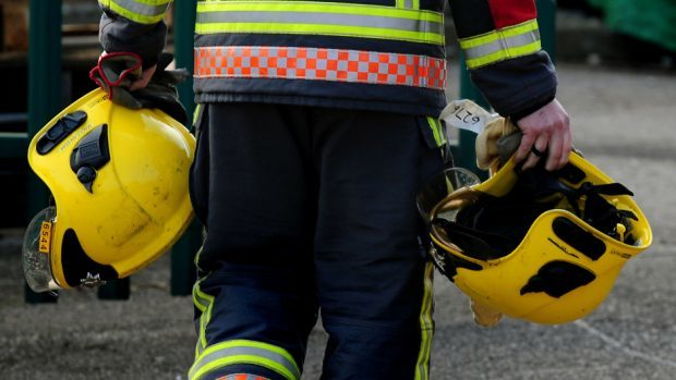 Malcolm Slater had his phone stolen while tackling a blaze