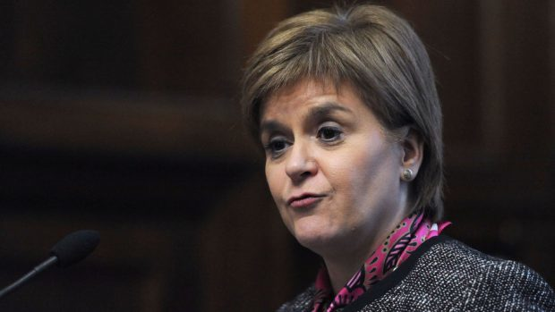 First Minister Nicola Sturgeon has refused to rule out a second referendum on independence