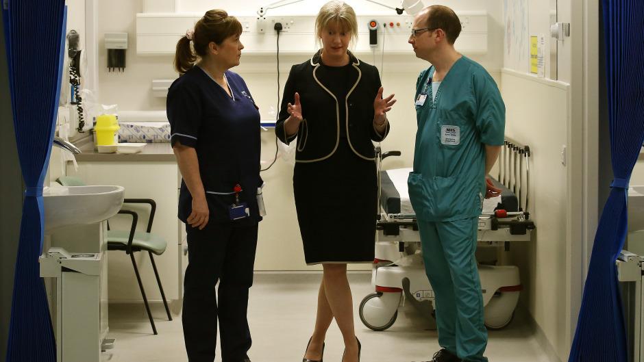 Scottish Health Secretary Shona Robison (centre)
