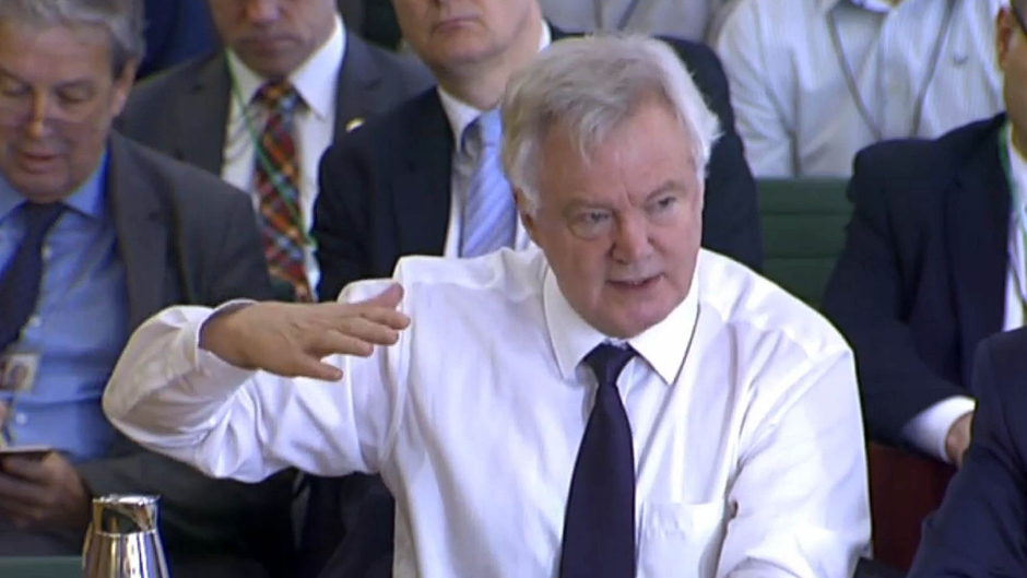 Brexit Secretary David Davis gives evidence to the Brexit Select Committee