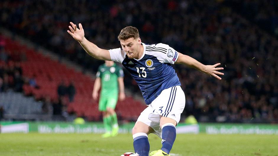 Scotland's Chris Martin scored a late winner against Slovenia