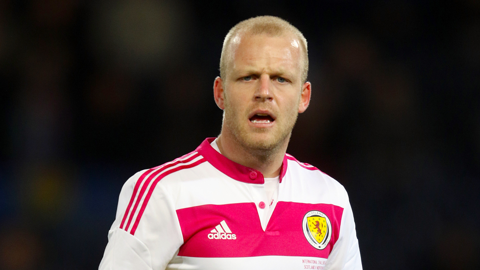 Steven Naismith was on target for Scotland.