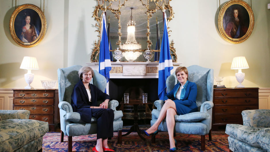 Prime Minister Theresa May meets Scotland First Minister Nicola Sturgeon at Bute House in Edinburgh