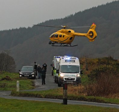 A woman suffered multiple injuries in a gully fall.