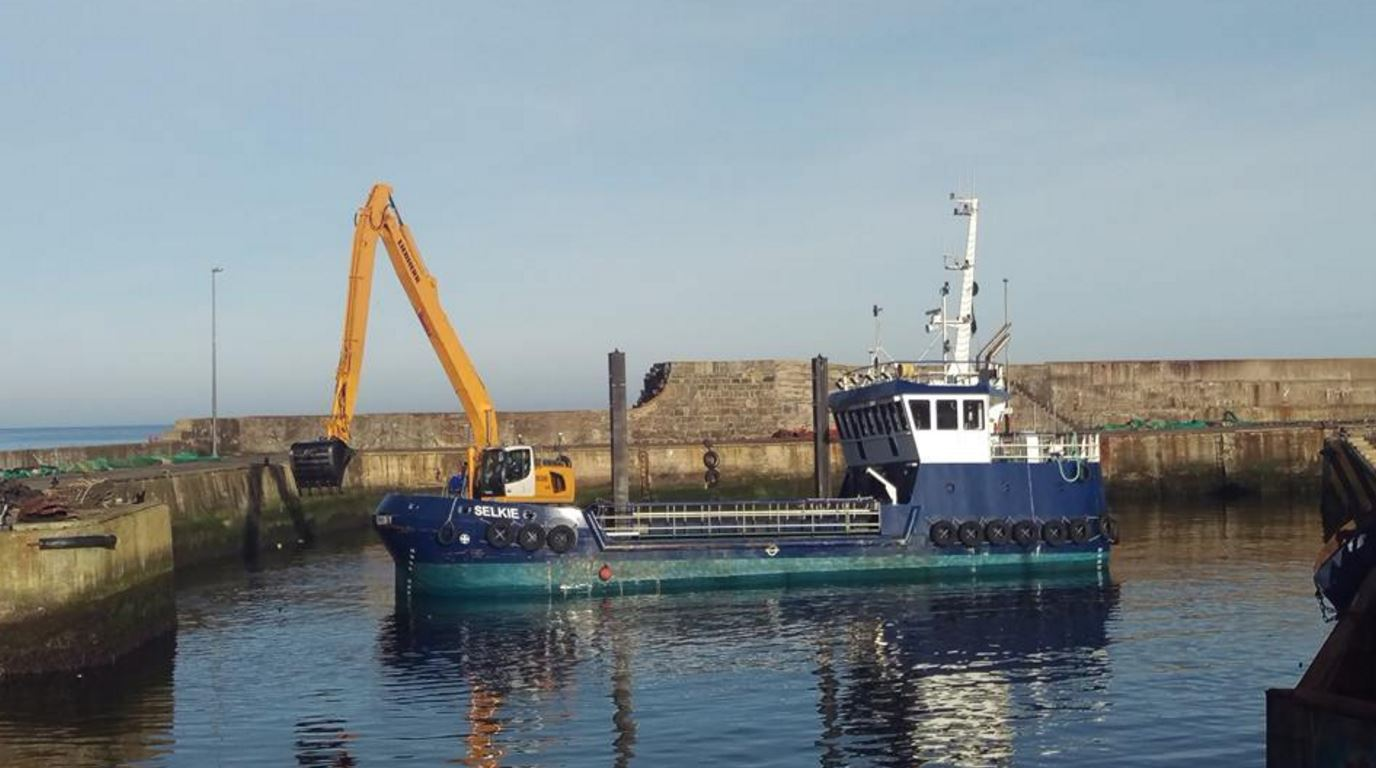 Selkie has been dredging at Macduff harbour this week.