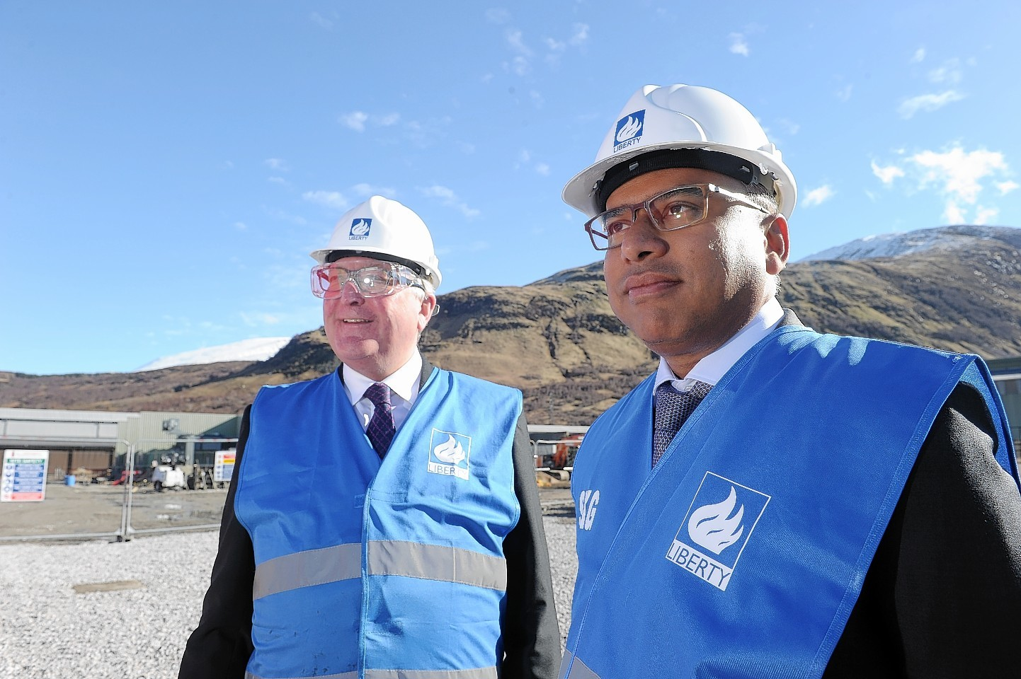 Sanjeev Gupta, right, with Fergus Ewing at the Fort William smelter.