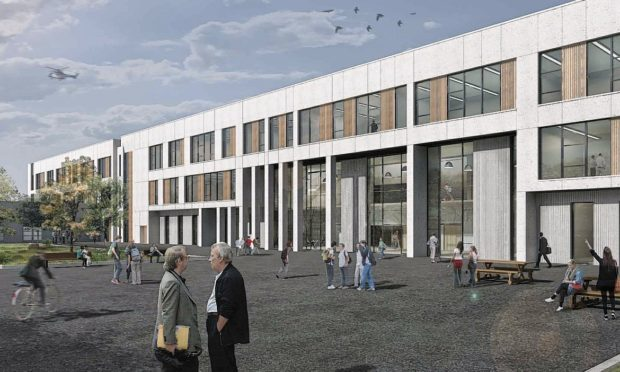 Pictured are new artist impressions of the proposed new secondary school at Calder Park