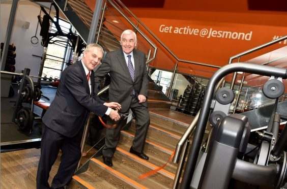 Sport Aberdeen held an official opening of the Get Active @ Jesmond. Pictured Sport Aberdeen chairman Fred Dalgarno (right) and Councilllor Willie Young.  Picture by COLIN RENNIE