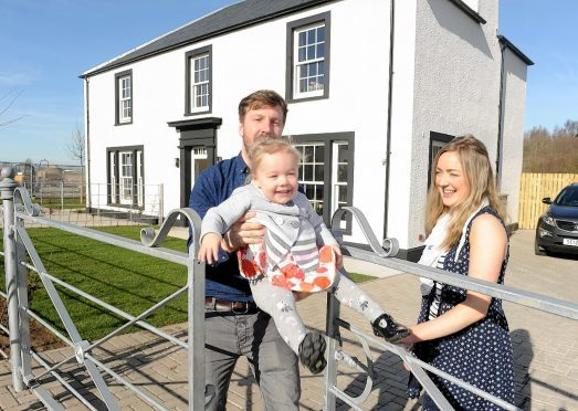 The first residents moved into their new home at Tornagrain last month