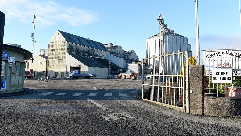 The Whyte and Mackay distillery in Invergordon