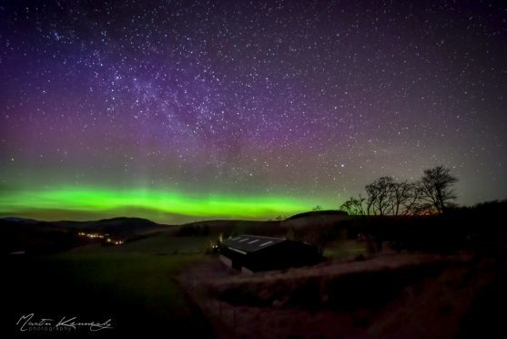 This shot of the Northern Lights was captured at Lumphanan by Martin Kennedy.