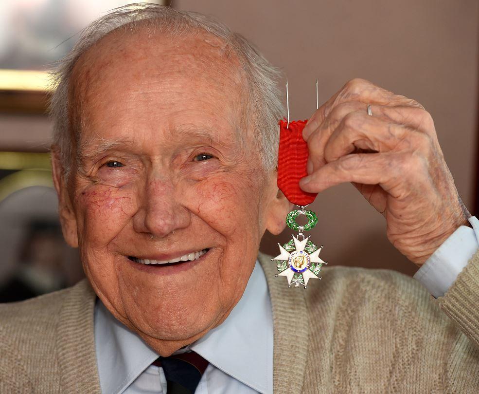 Bill Diack, 93, with his Legion D'honneur medal.