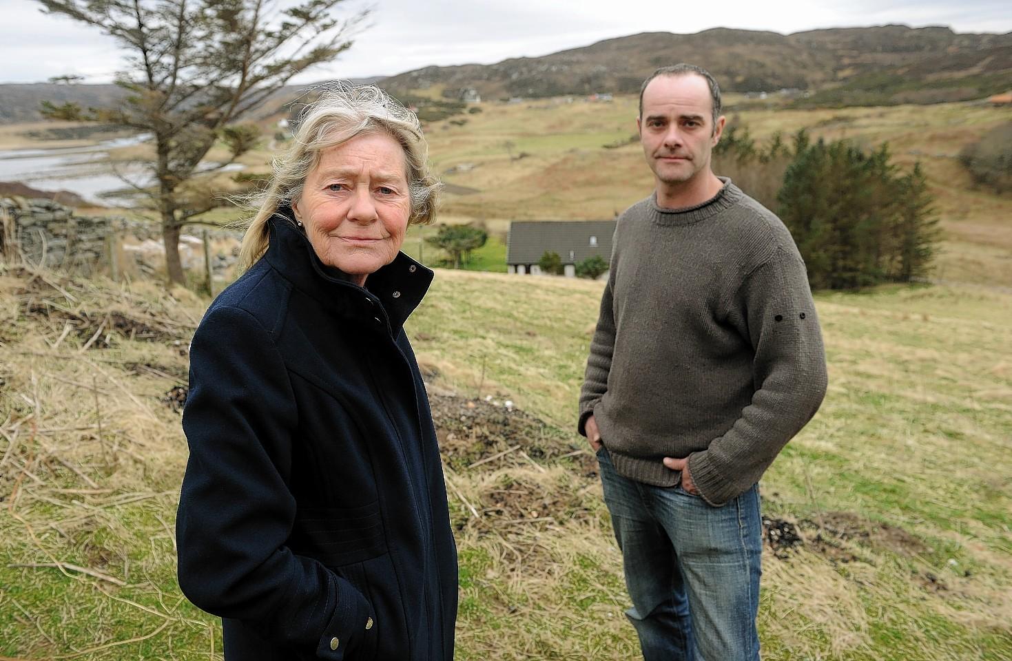 Partner Anne Scott with her son Kris