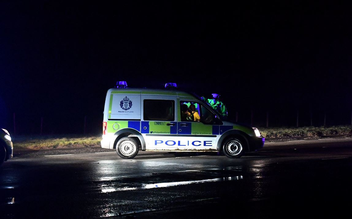 A man has been arrested following a crash on the A90