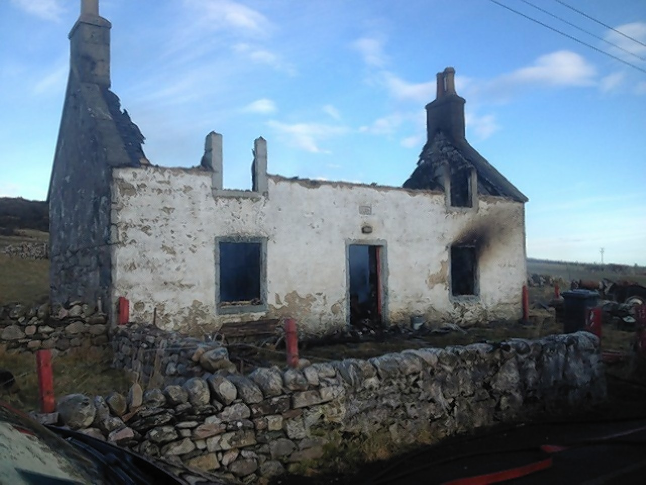 The burnt out house at Durness
