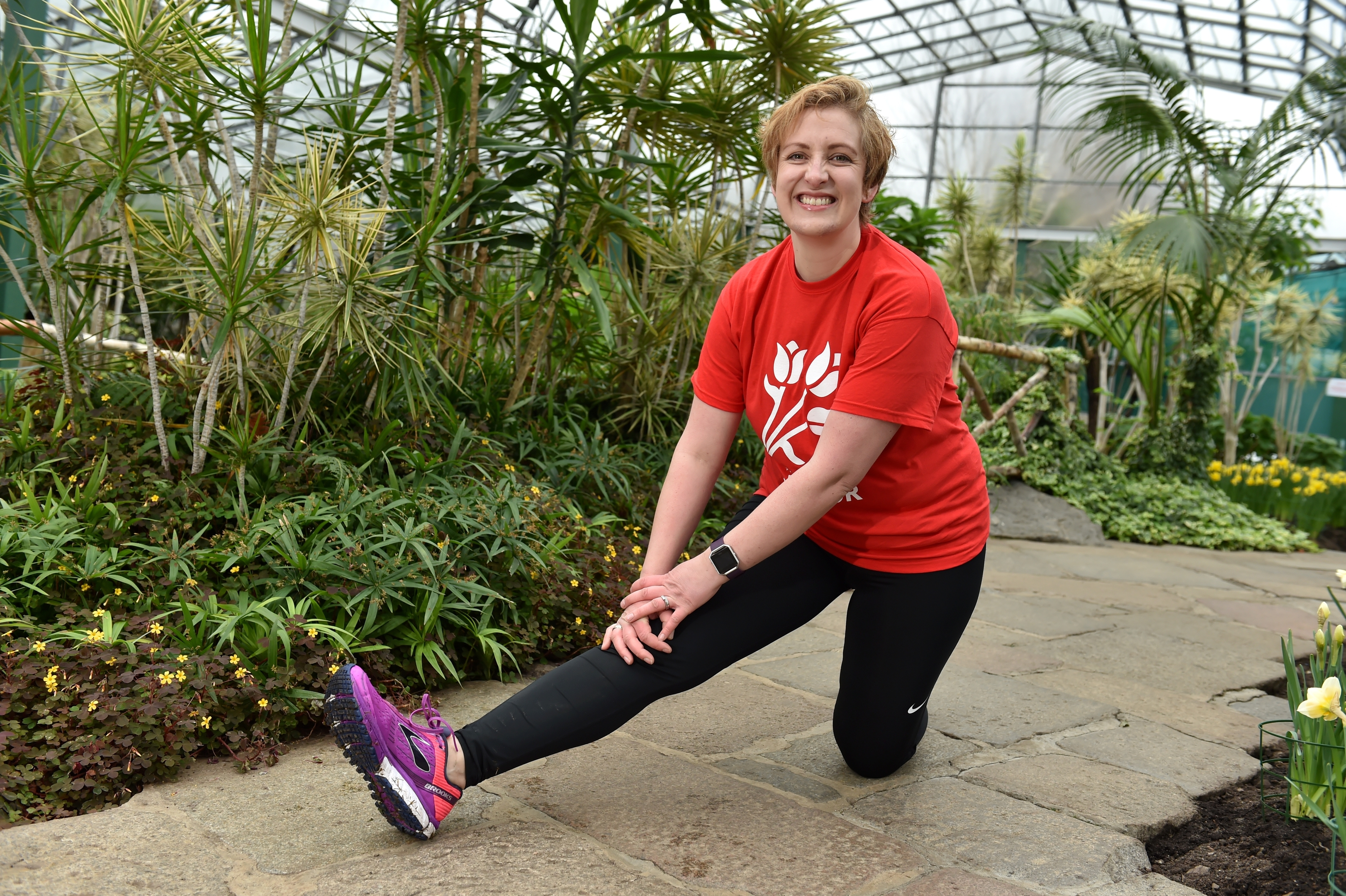Previous Friends of Anchor Courage on the Catwalk model, Kerry Rae, swaps her catwalk heels for trainers to take on the Run Balmoral 5k in aid of a charity close to her heart with six of her closest friends on her 40th birthday weekend. Picture by Kenny Elrick.