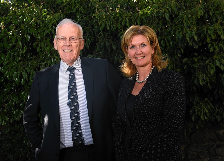 Sir Ian Wood and Jennifer Craw