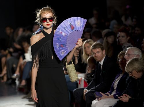 16/09/16 PA File Photo of a model on the catwalk during the PPQ Spring/Summer 2017 London Fashion Week show at St Barts the Great, Cloth Fair, London. See PA Feature BEAUTY Nail Trends. Picture credit should read: Isabel Infantes/PA Photos. WARNING: This picture must only be used to accompany PA Feature BEAUTY Nail Trends