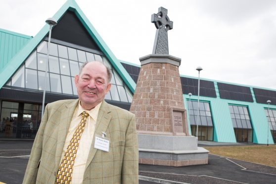 Charles Ritchie outside Crimond medical centre earlier this year.