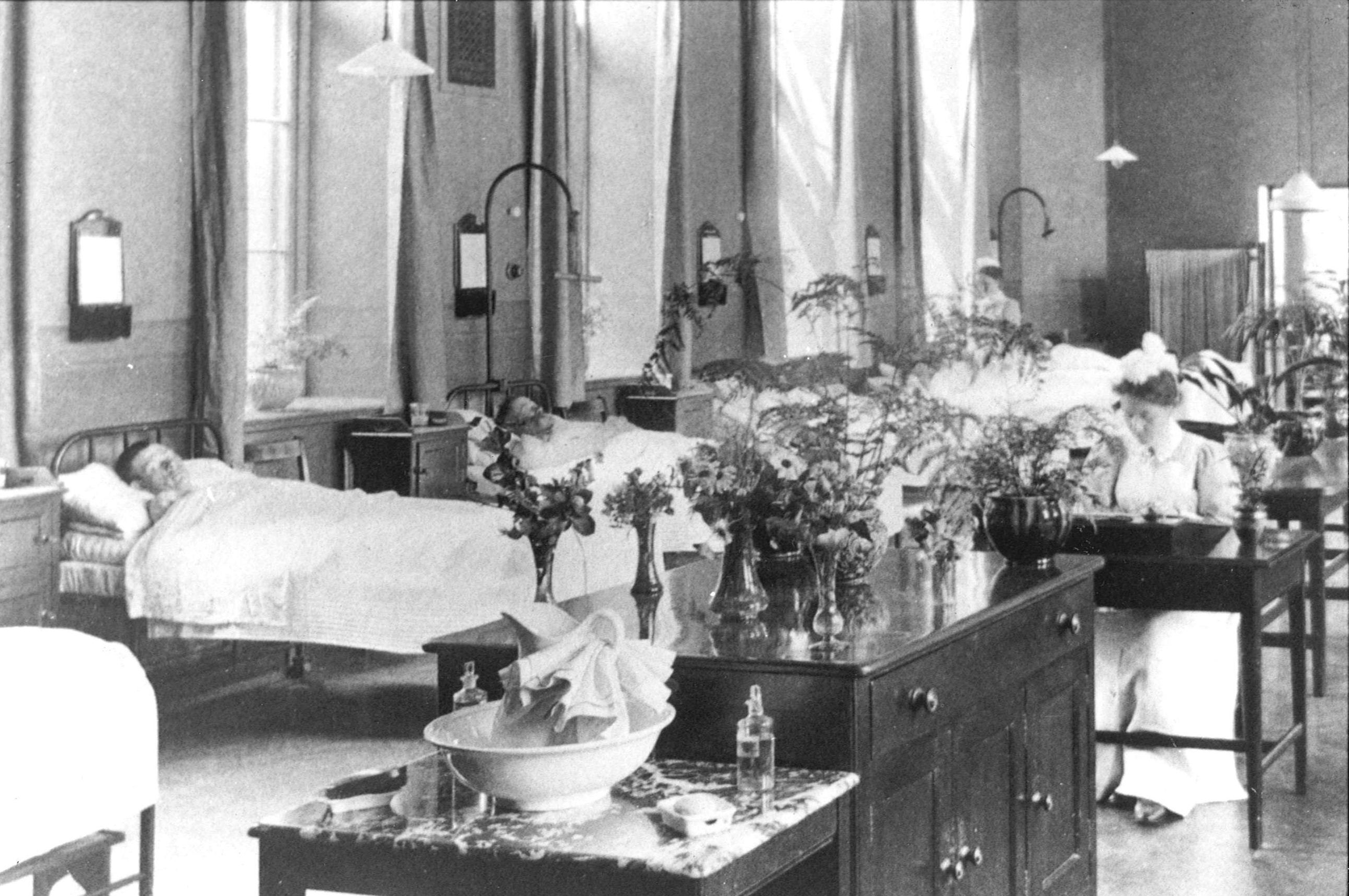 A ward at WH in the 1900s