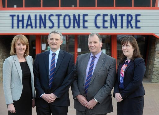 The ANM Group executive team - Avril McLeod, Grant Rogerson, John Gregor and Alison Green.