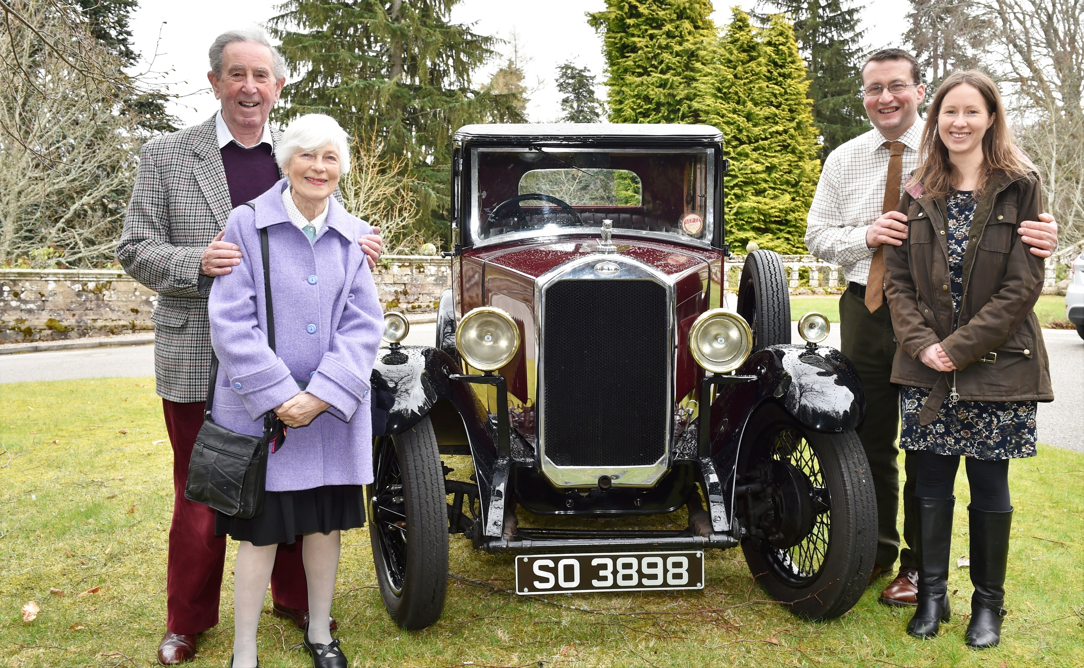 From left: Mary and Bert Davidson with Robin and Anna Willis. Pictures by Colin Rennie.
