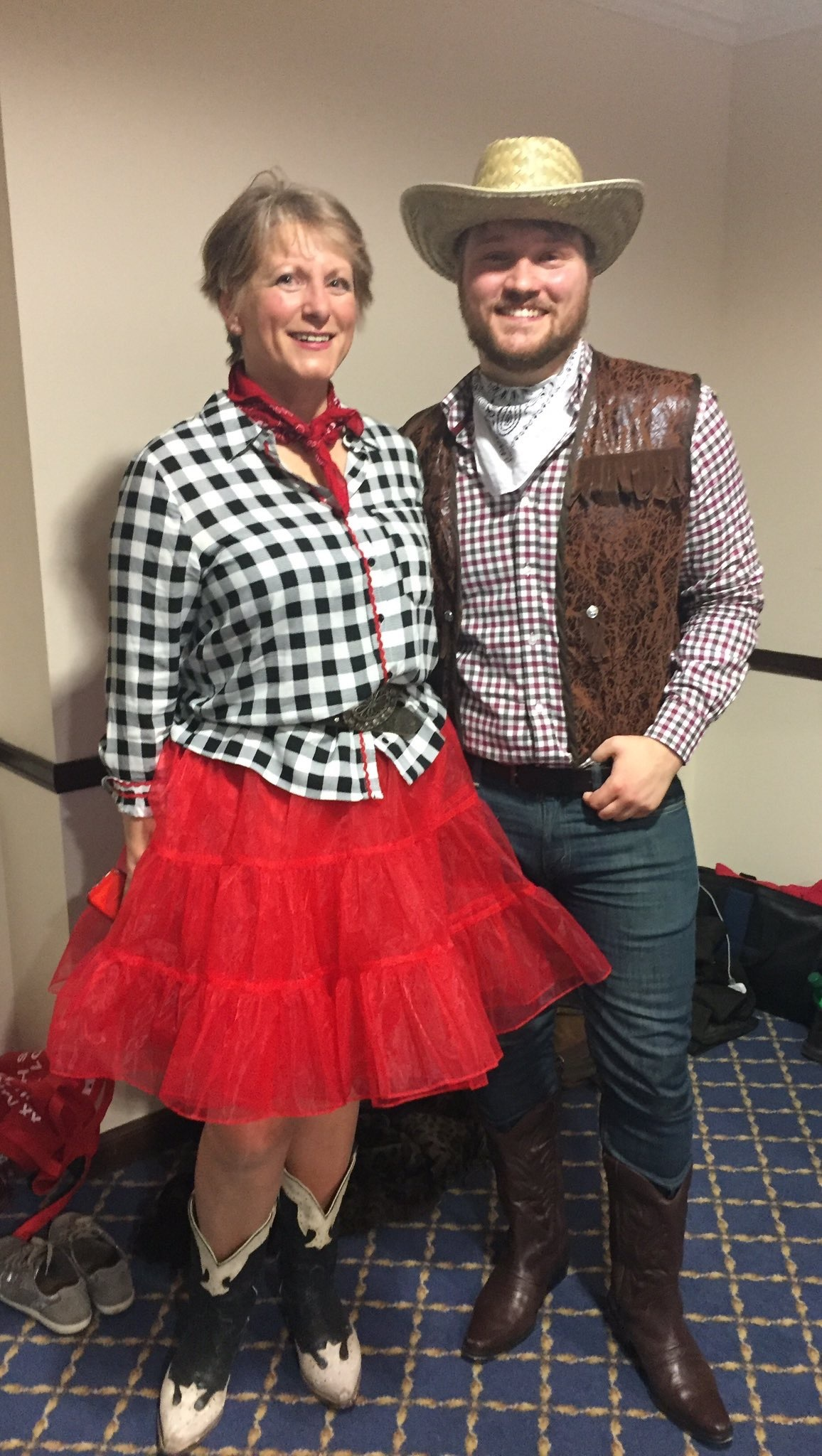 Stuart Donaldson, who donned his cowboy boots for a Wild West-themed dance with stage partner, Kay Minellas.