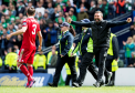 Aberdeen manager Derek McInnes at full time in the Scottish Cup semi-final