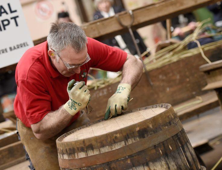 David McKenzie at work on his barrel