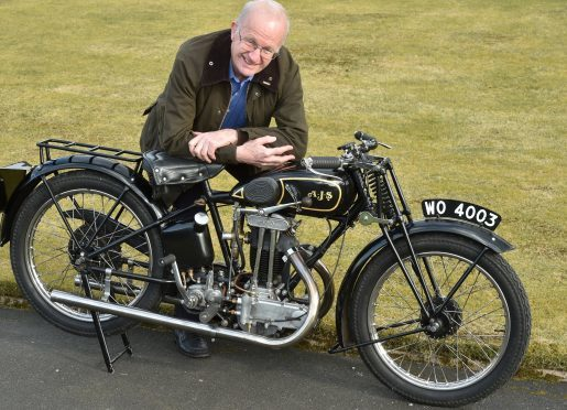 Crawford with his 1930 AJS 250cc