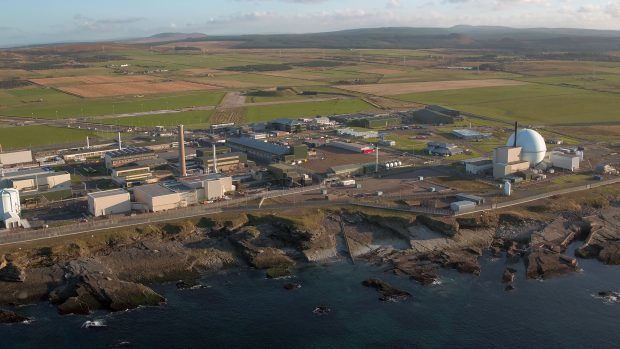 An aerial view of Dounreay