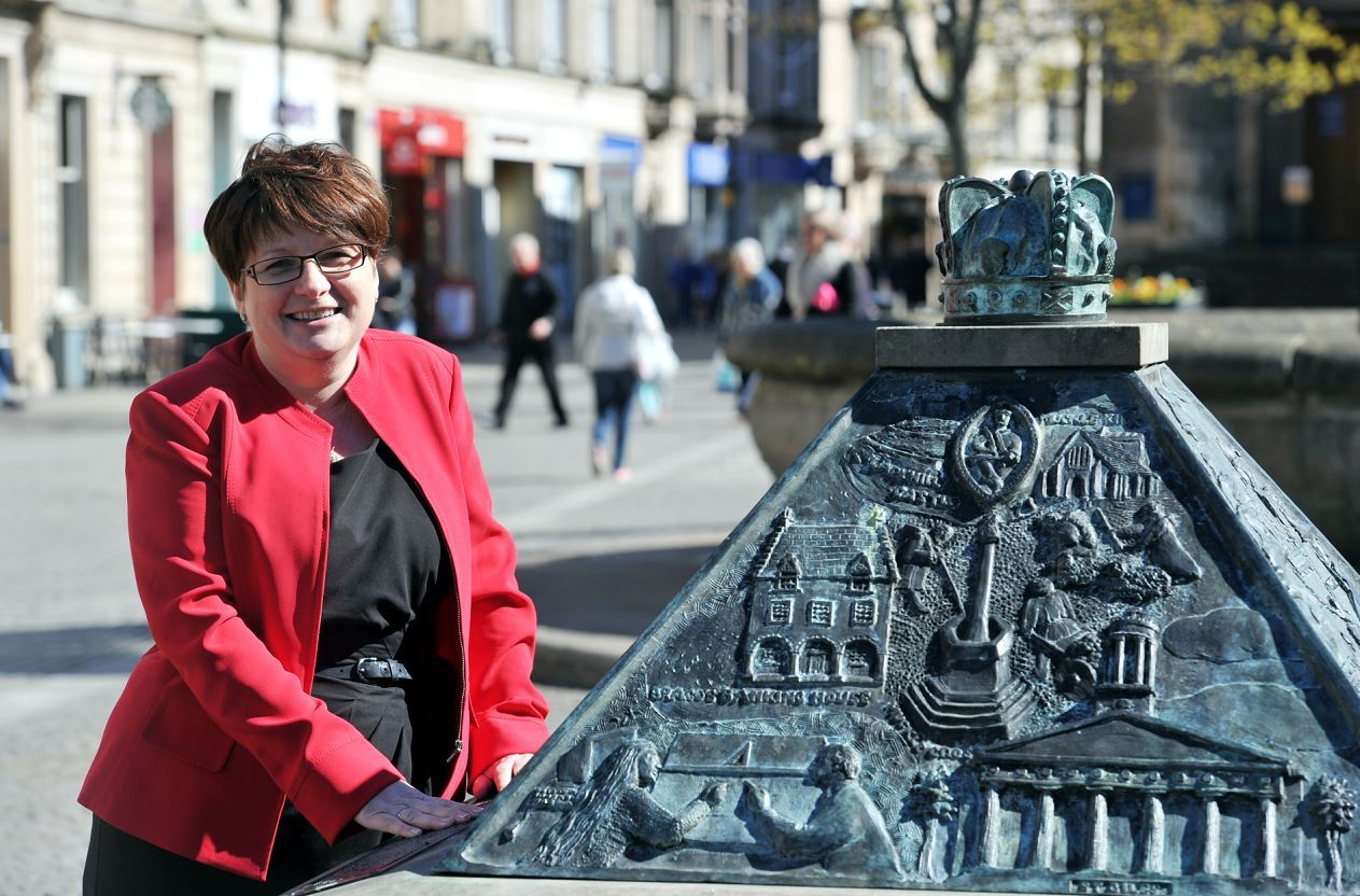 Gill Neill, chief executive of Elgin Bid, is positive about the town centre's future.