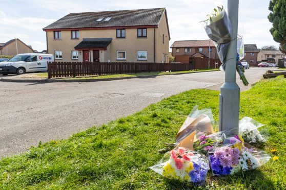 Floral tributes to the boy that died.