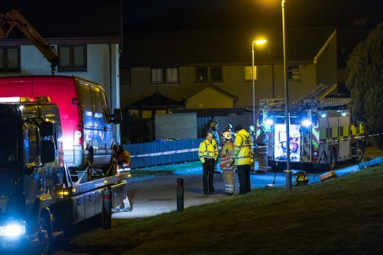 A seven year old boy was killed after the crash on Brechan Rig, Elgin