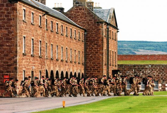 Soldiers at Fort George near Inverness.