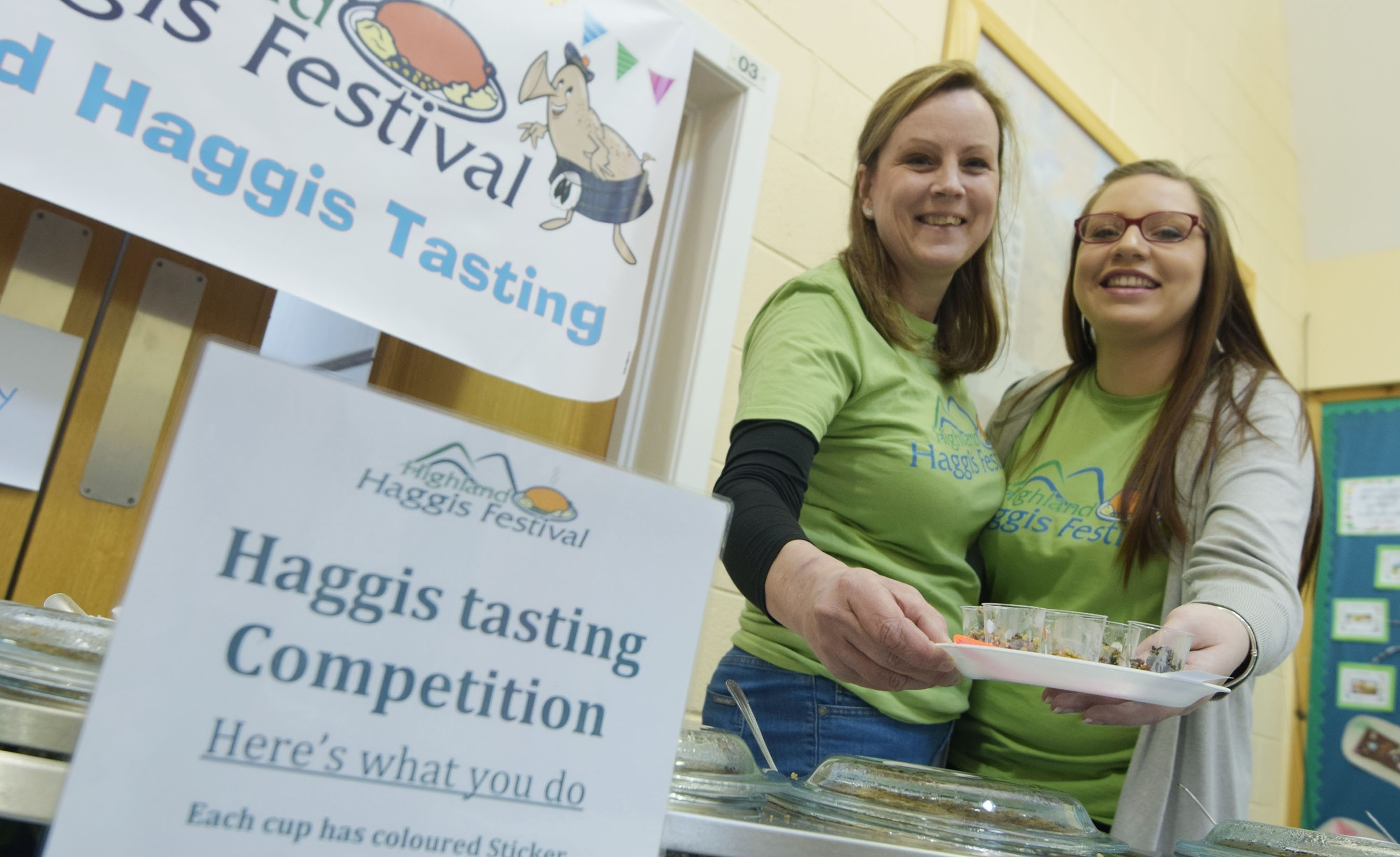 Spoilt for choice as 'Haggis Girls' Fiona MacKenzie (left) and Morgan MacDonald offer six haggis recipes to sample and vote on.