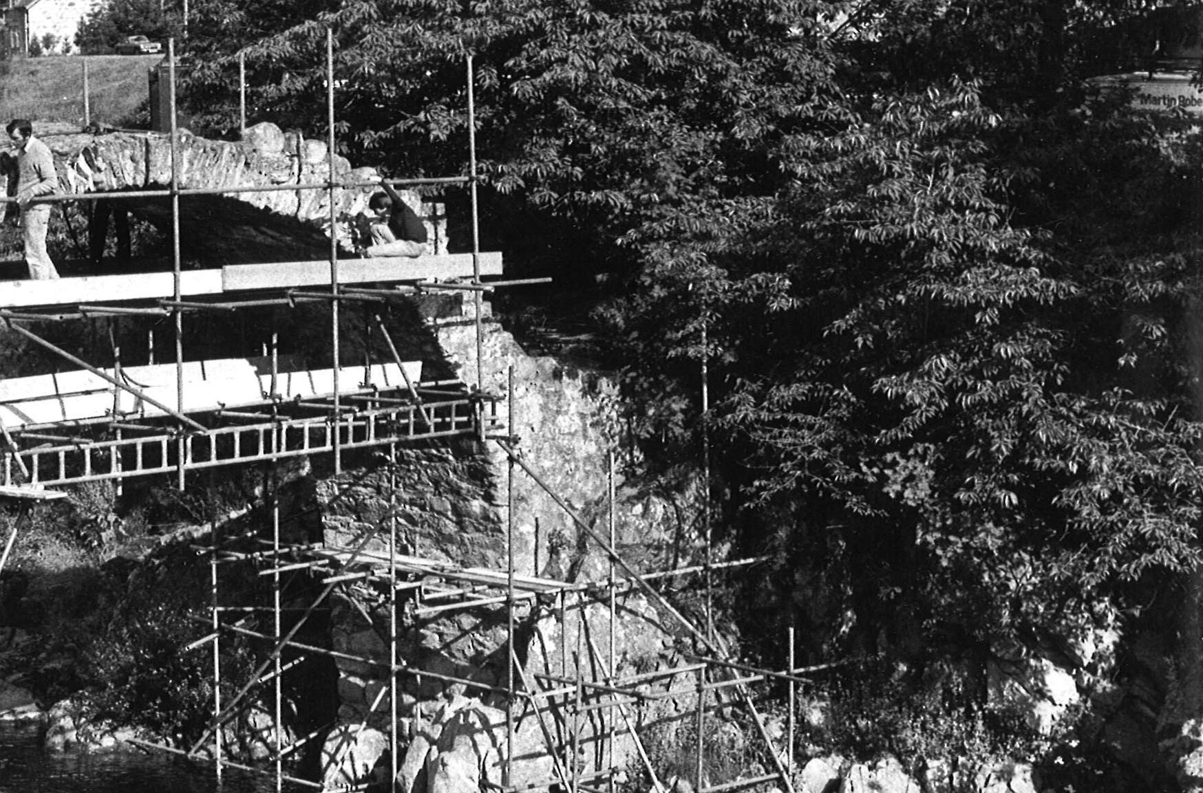 Highland Regional Council foots the bill for bridge reconstruction in 1983