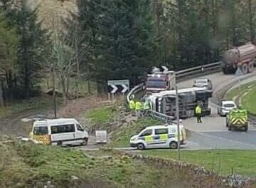 Scene of the crash on the A9 at Berriedale Braes. Picture by John Mowatt