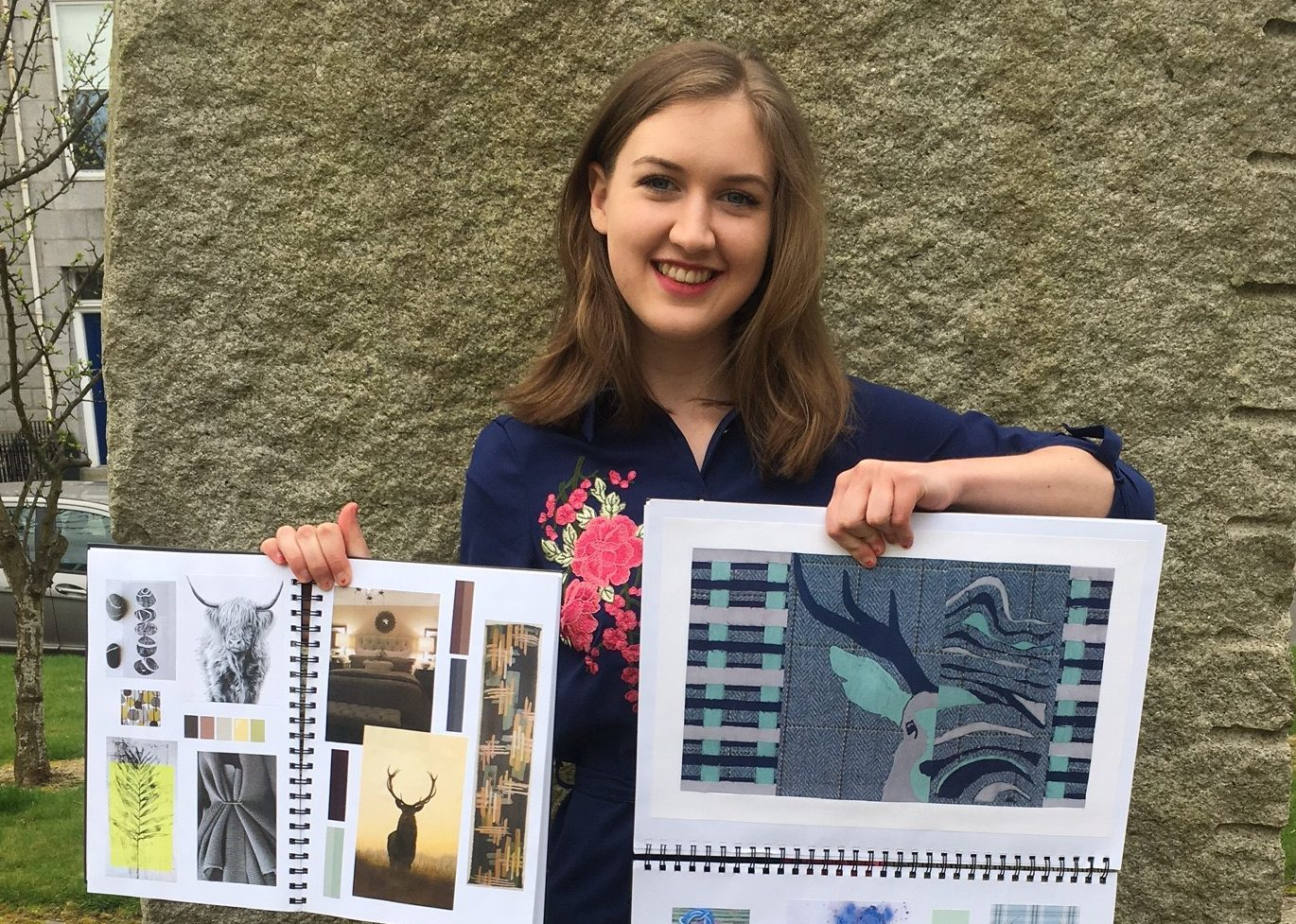 North East Scotland College student Janice Linton scooped an award for her mattress headboard design.